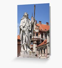 Religious Christian monument in Maribor Greeting Card