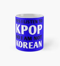I LISTEN TO KPOP - BLUE Mug