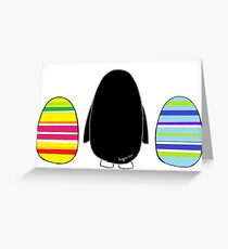 Penguins and Eggs Greeting Card