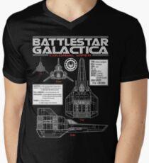 BATTLESTAR GALACTICA COLONIAL VIPER Men's V-Neck T-Shirt