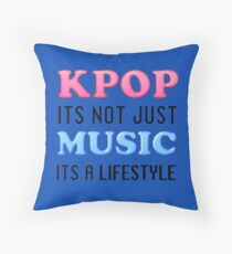 KPOP IS A LIFESTYLE - BLUE Throw Pillow