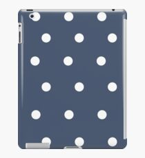 Vinilo o funda para iPad Navy Blue with White Polka Dots