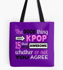 GOOD THING ABOUT KPOP - PURPLE Tote Bag