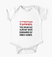 Attention Zombies Video Games One Piece - Short Sleeve