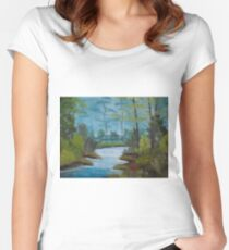 Oil Painting 8 Women's Fitted Scoop T-Shirt