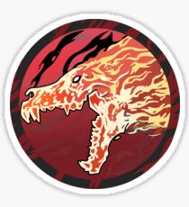 Flaming Howl High Res Version Sticker