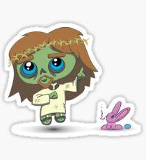 Cute Zombie Jesus Sticker