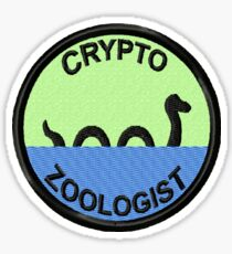Cryptozoologist Geek Merit Badge Sticker