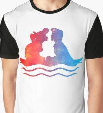 Bootsfahrt Kuss Grafik T-Shirt