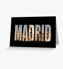 Madrid Greeting Card