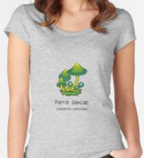 Parrot Waxcap (without smiley face) Women's Fitted Scoop T-Shirt