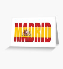 Madrid. Greeting Card