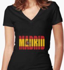 Camiseta entallada de cuello en V Madrid.