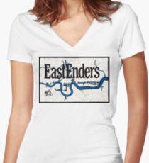 EastEnder River Women's Fitted V-Neck T-Shirt