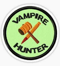 Vampire Hunter Geek Merit Badge Sticker