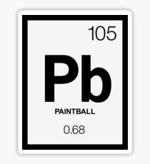 Periodic Paintball Sticker