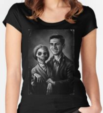 Bates Family Portrait Women's Fitted Scoop T-Shirt