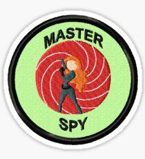 Master Spy Geek Merit Badge (Female) Sticker