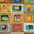 """Lilly Geometric Textile Art Series """"Loose Ends, One"""" by Steve Chambers"""