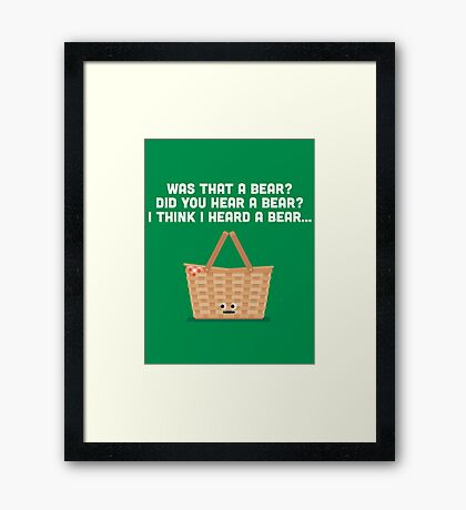 Character Building - Picnic Basket Framed Print