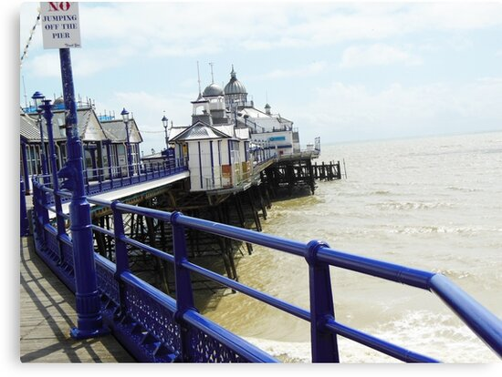 Eastbourne Pier England by Kenneth  A  McWilliams