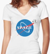 Portal Space Women's Fitted V-Neck T-Shirt