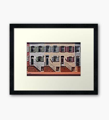 Snow's Court Alley   Framed Print