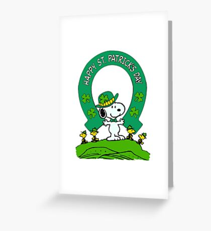 Snoopy - st patrick's day Greeting Card