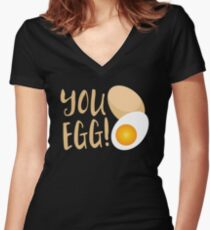 You egg (with golden egg) funny Kiwi Saying Women's Fitted V-Neck T-Shirt