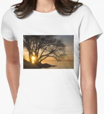 Fiery Sunrise - Like A Golden Portal To Another World Womens Fitted T-Shirt