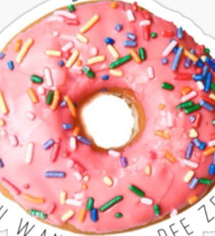 Donut Dee Zee Sticker