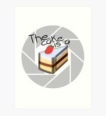Portal Cake Art Print