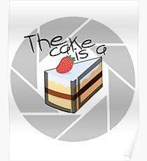 Portal Cake Poster