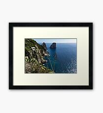 Faraglioni Sea Stacks and Agave Bloom Spikes - the Magic of Capri, Italy Framed Print