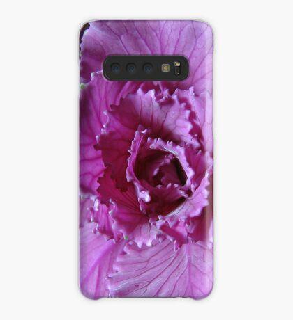 Pretty in Purple - Zierkohl Makro Hülle & Klebefolie für Samsung Galaxy