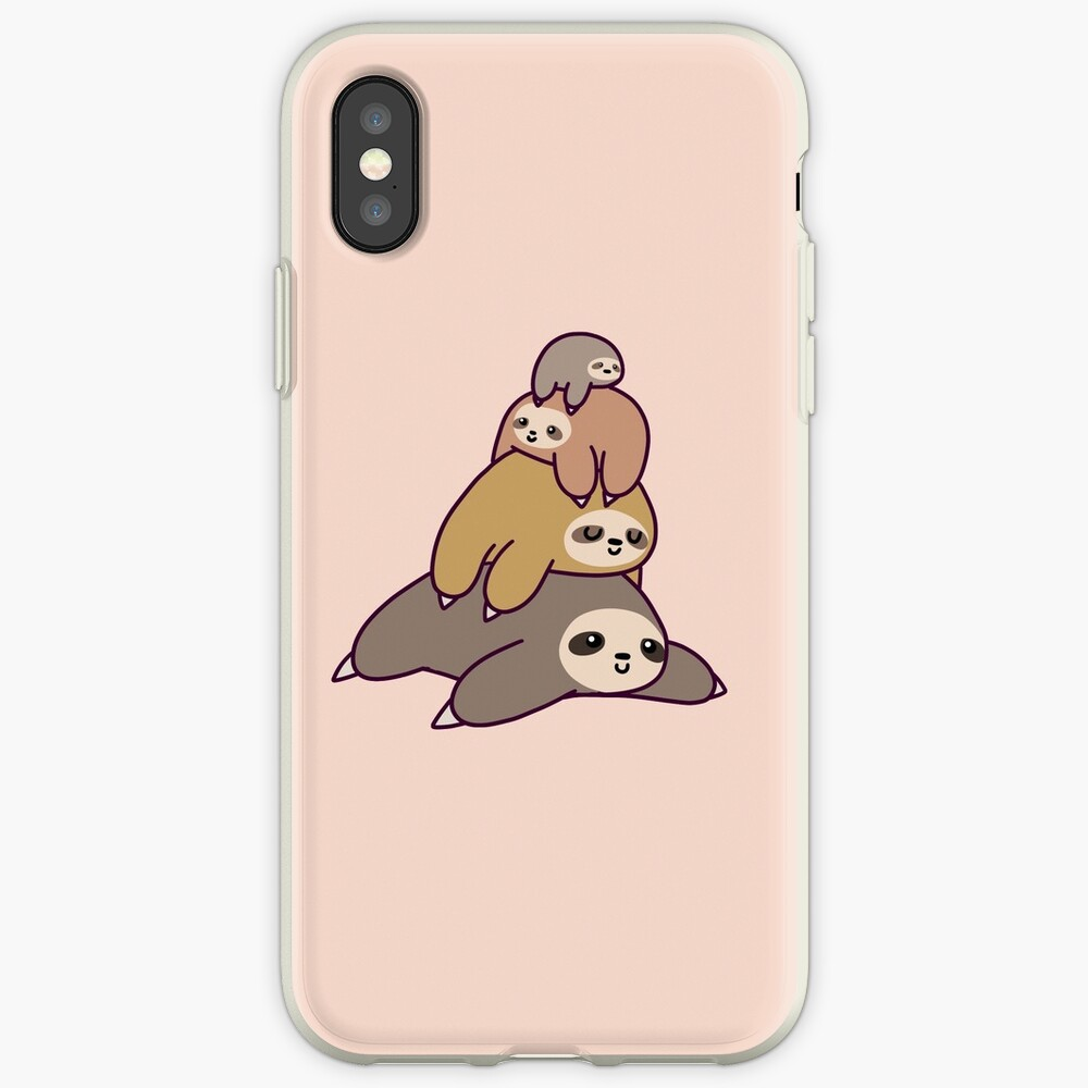 Sloth Stack iPhone Cases & Covers