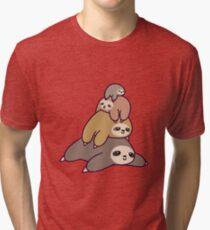 Faultier-Stapel Vintage T-Shirt