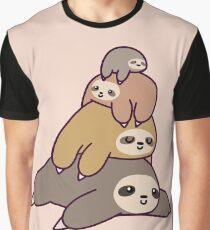 Camiseta gráfica Pila de pereza
