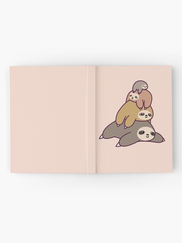 Alternate view of Sloth Stack Hardcover Journal