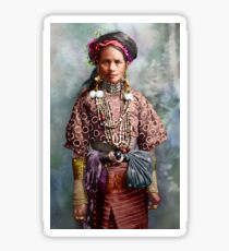 Colorized Philippine Itneg Tribe Woman Sticker