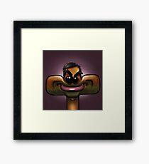 Aziz / Tom Square-icature Framed Print