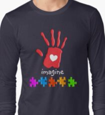 Autism Awareness Childs Hand Long Sleeve T-Shirt