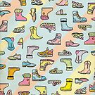 Colorful Shoes Cartoon Pattern by thejoyker1986