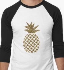 gold glitter pineapple T-Shirt