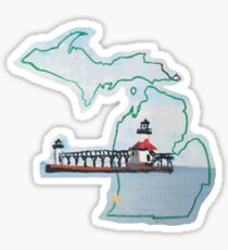 Michigan Pride Lighthouse Sticker