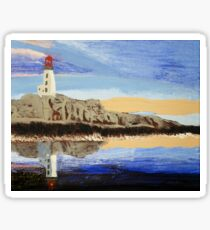 Lighthouse Reflection On The Water Sticker