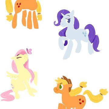 My Little Pony: Friendship is Magic Sticker Set by lutnik