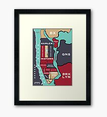 New York City Map Framed Print