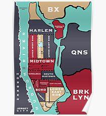 Póster Mapa de Nueva York