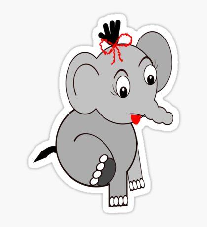 Elephant (3913 Views) Sticker